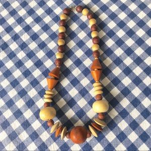 {vintage} wood necklace